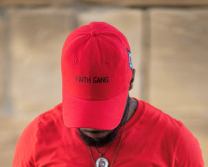 Faith Gang Red Dad Cap