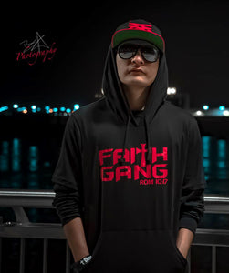 Faith Gang Men's Black Short Sleeve Hoodie