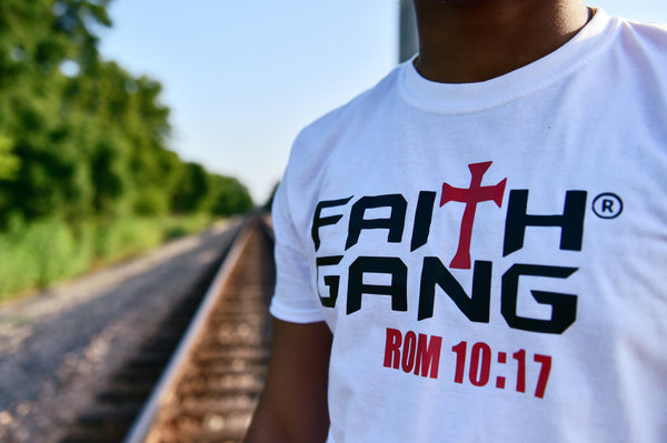Faith Gang Unisex Classic  White Tee (multiple color options)
