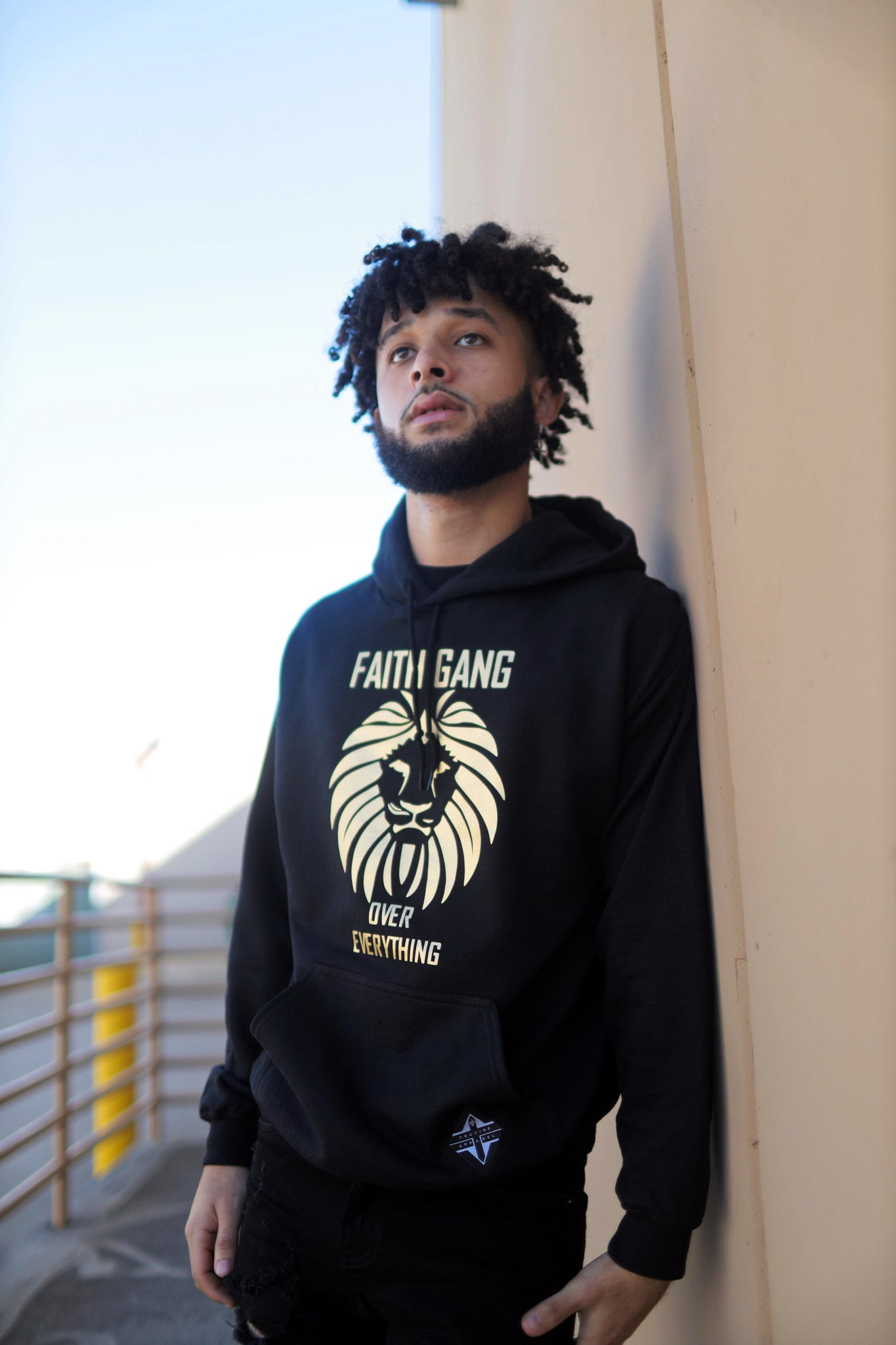 Faith Gang Over Everything Hoodie (multiple color options) Gold Design