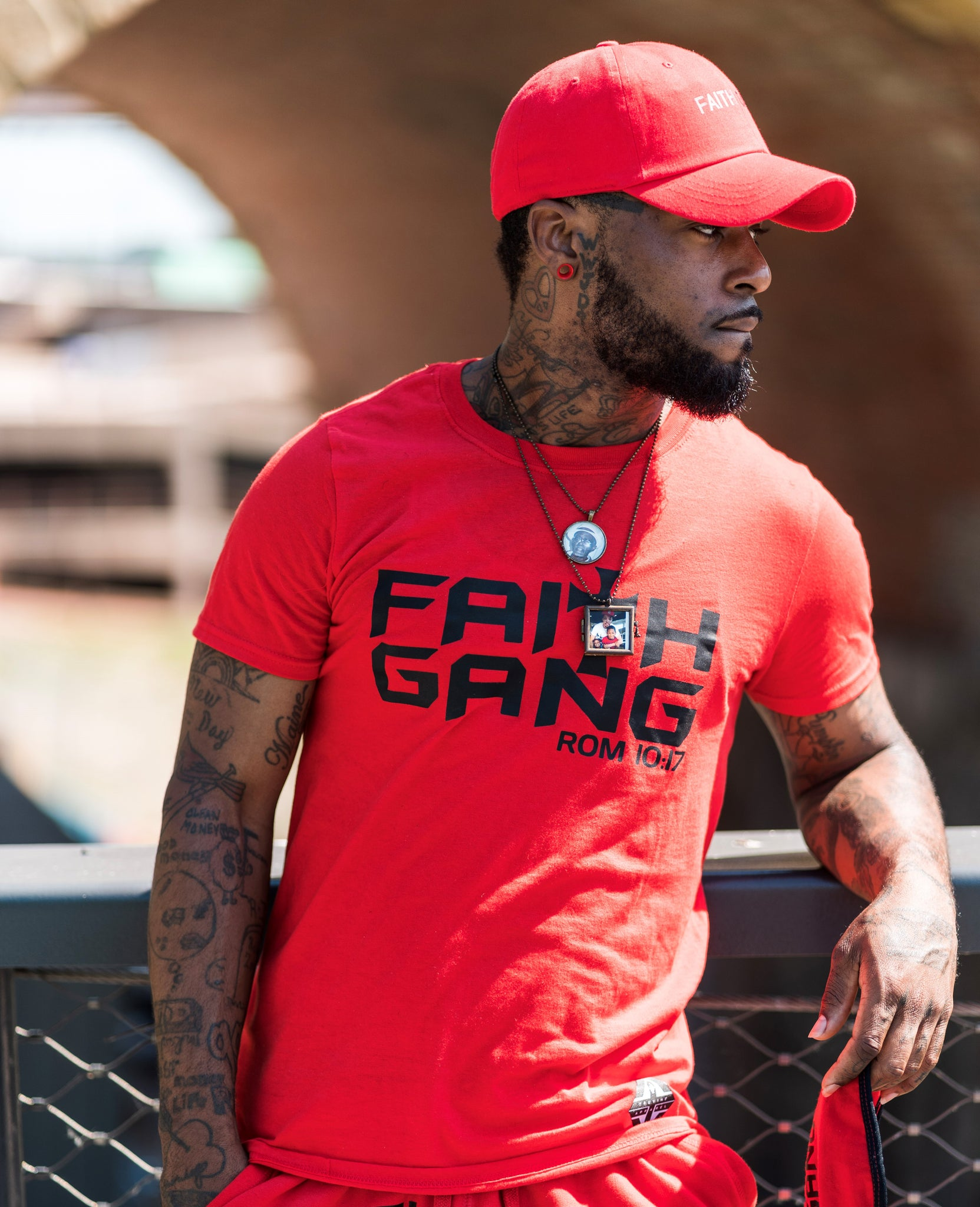 Faith Gang Red/Black Unisex Tee (Multiple color options)