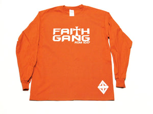 Faith Gang Texas Orange Long Sleeve Unisex Tee
