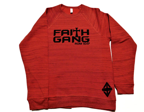 Faith Gang Red Marble Crewneck (Unisex)
