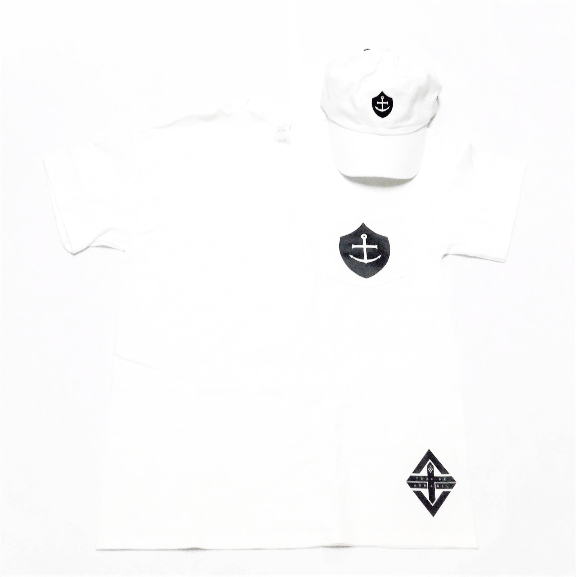 Shield of Faith | Anchored in Hope Unisex Pocket Tee (White)