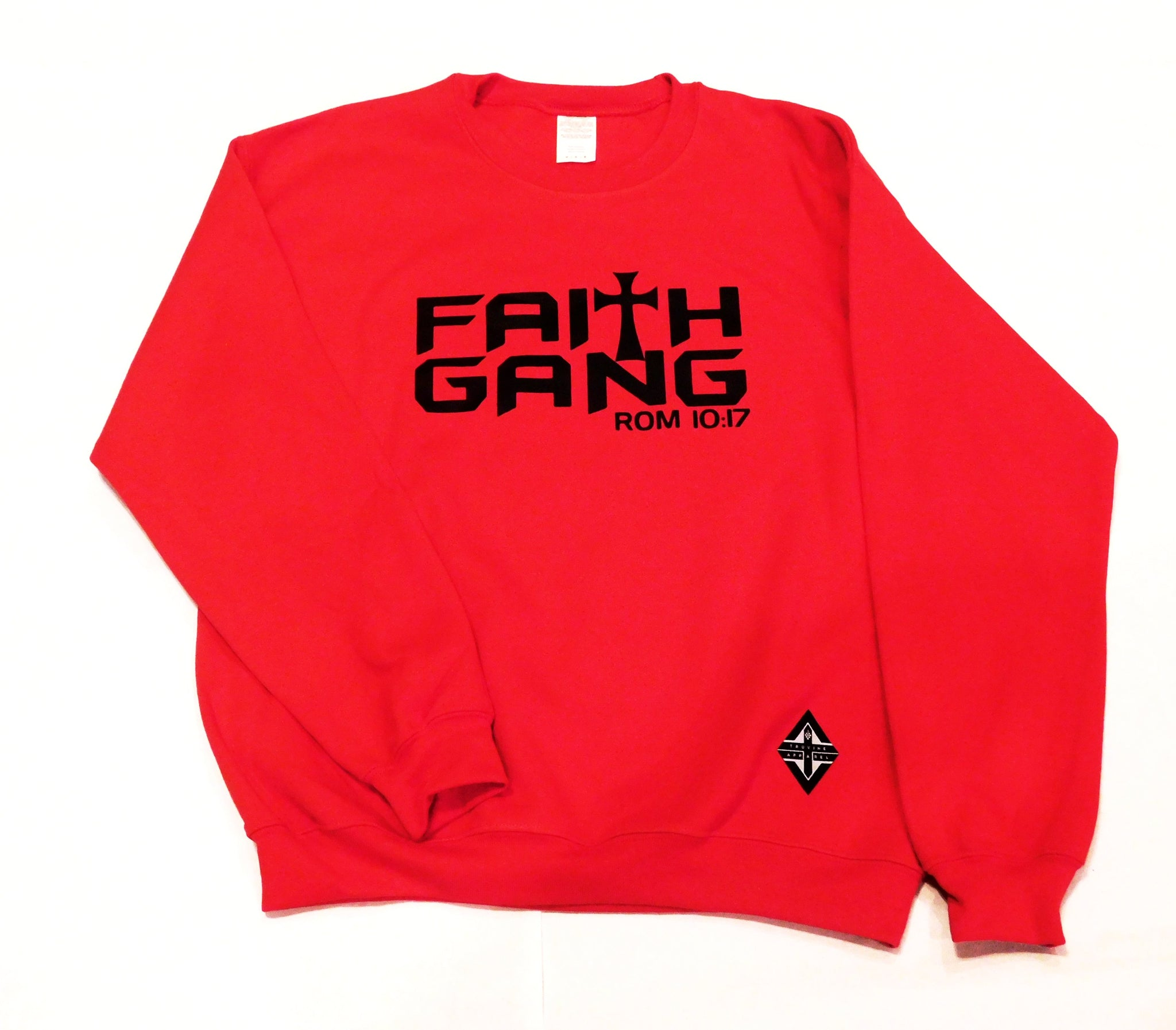 Faith Gang Crewneck Sweatshirt (multiple color options) Black Design