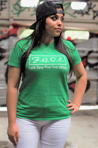 F.G.O.E. (Faith Gang Over Everything) Irish Green Tee