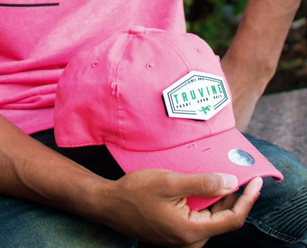 Prune.Grow.Obey. Coral Dad Cap
