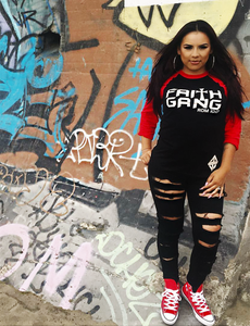 Faith Gang Baseball Tee (Red/Black)
