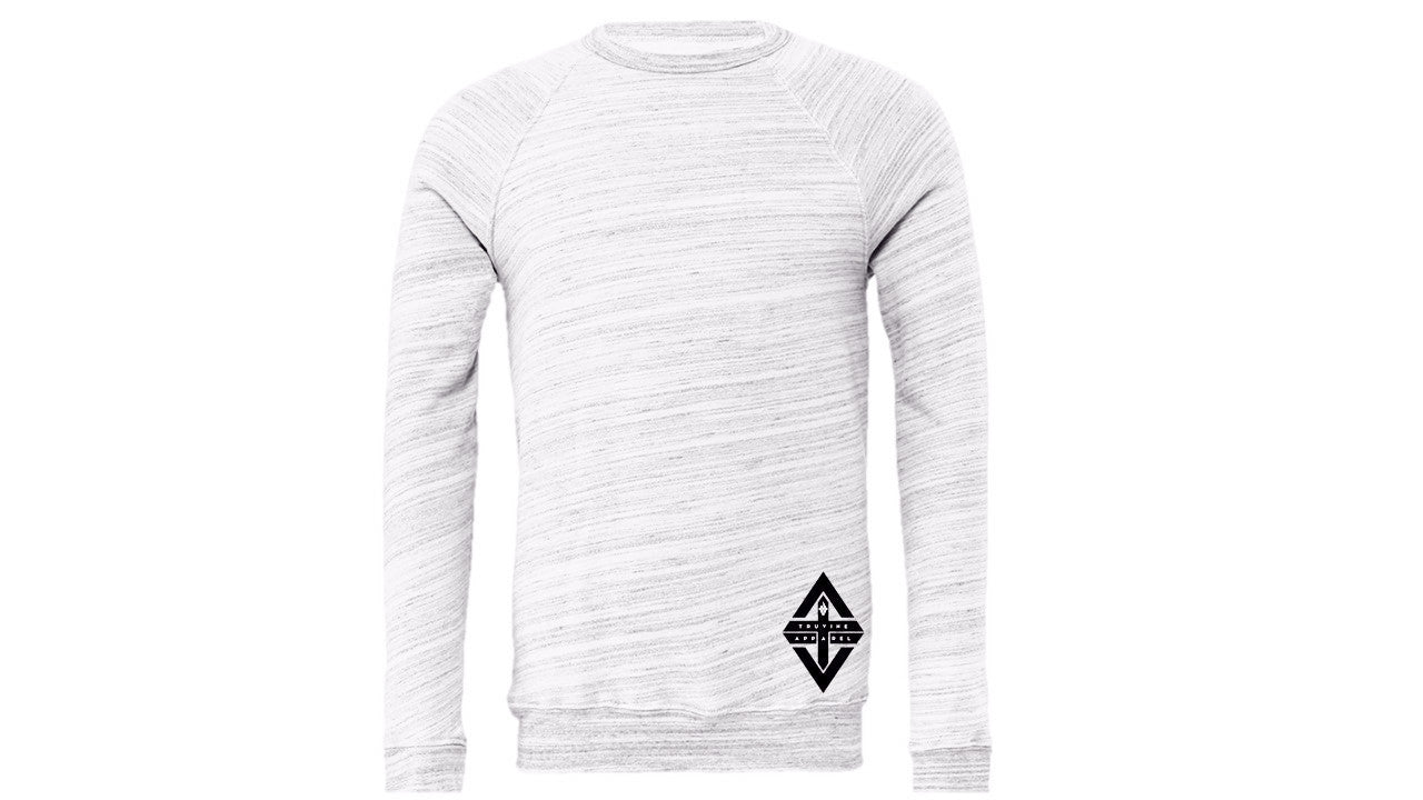 TruVine Light Grey Marble Unisex Crewneck