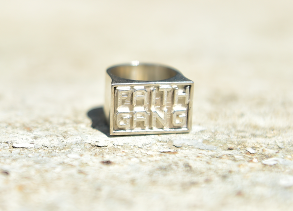 Faith Gang Sterling Silver Ring