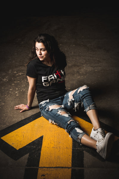 Faith Gang Women's V-Neck Tee