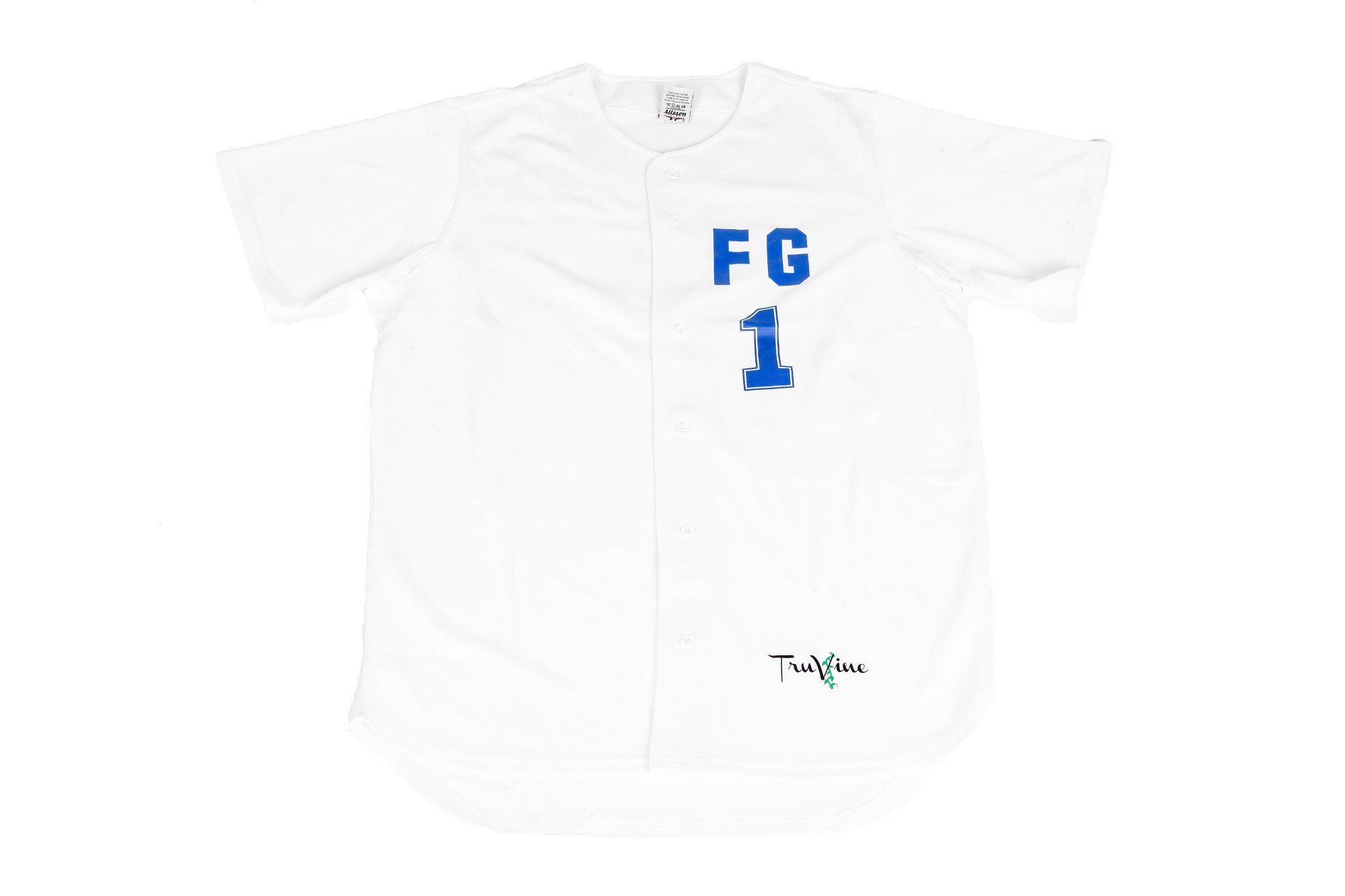 Faith Gang White & Royal Baseball Jersey (Limited Jersey)