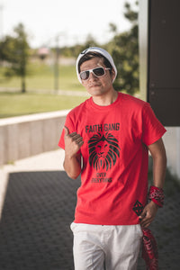 Faith Gang Over EveryThing Red/Black Tee (multiple color options)