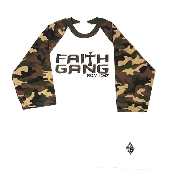 Faith Gang Camo Unisex Baseball Tee