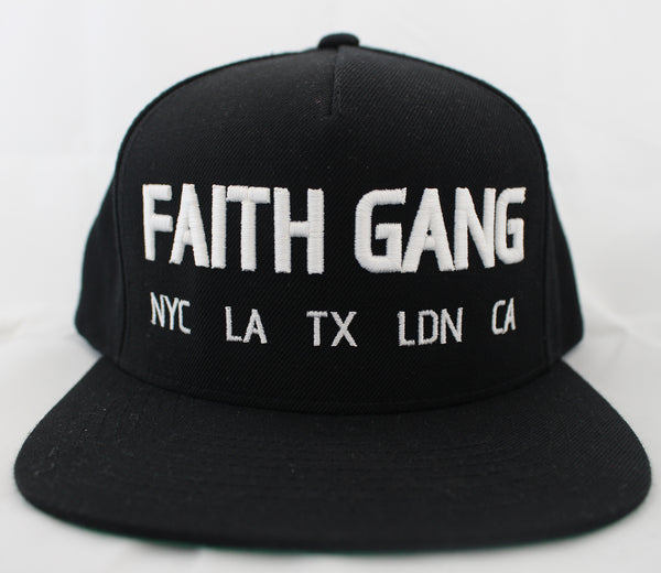 Faith Gang Worldwide Black Snapback