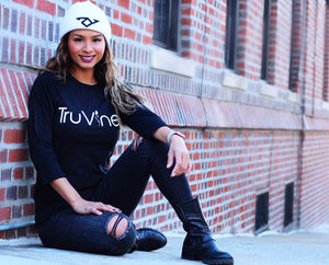 TruVine Black Heather Baseball Unisex Tee