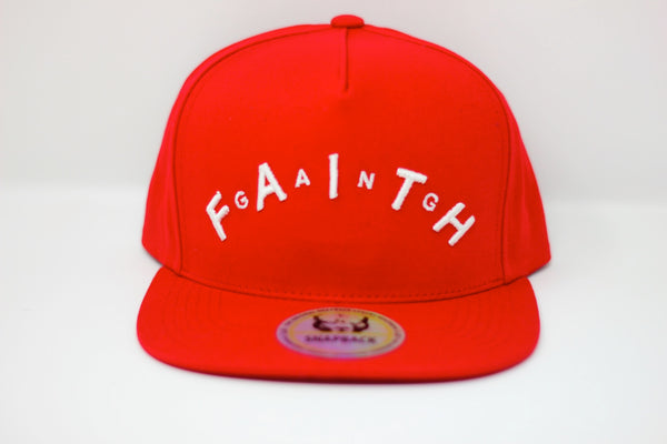 Faith Gang Red Arched Snapback