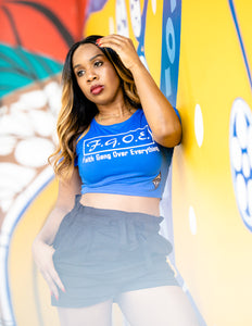 Faith Gang Over Everything Women's Crop Tee (multiple color options)