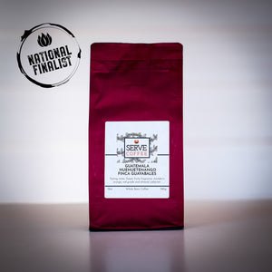 12 ounce roasted coffee from Guatemala Cup of Excellence winning producer.