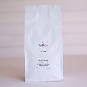 Serve Coffee MWD Decaf - gourmet fresh roasted whole bean coffee - Serve Coffee