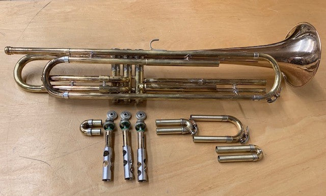 What's on My Bench? A 1957 Holton Bass Trumpet!