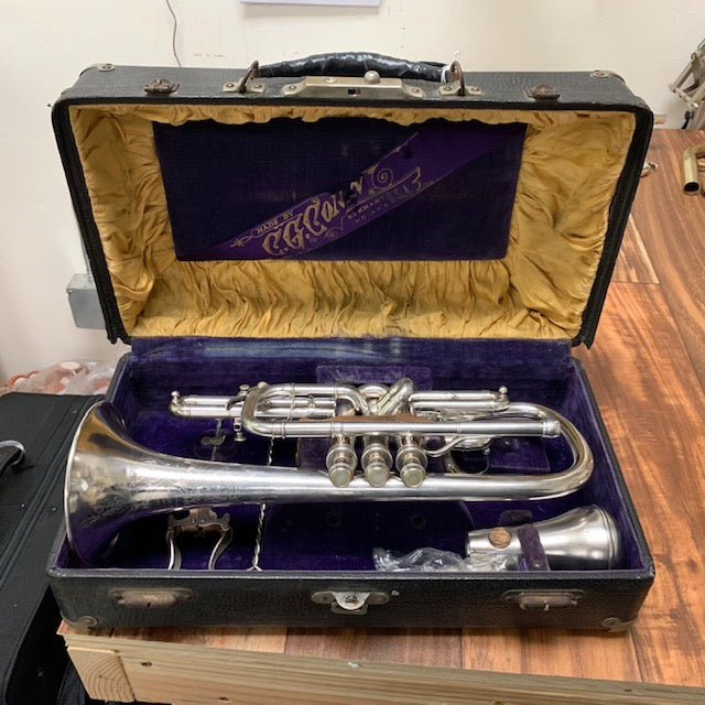 What's on My Bench? A 1904 Conn Connquerer Cornet!