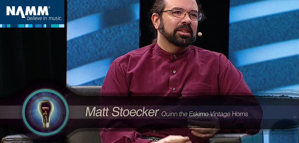 Matt Stoecker, Owner of Quinn the Eskimo Vintage Horns, is interviewed on his business model at the 2017 NAMM Show