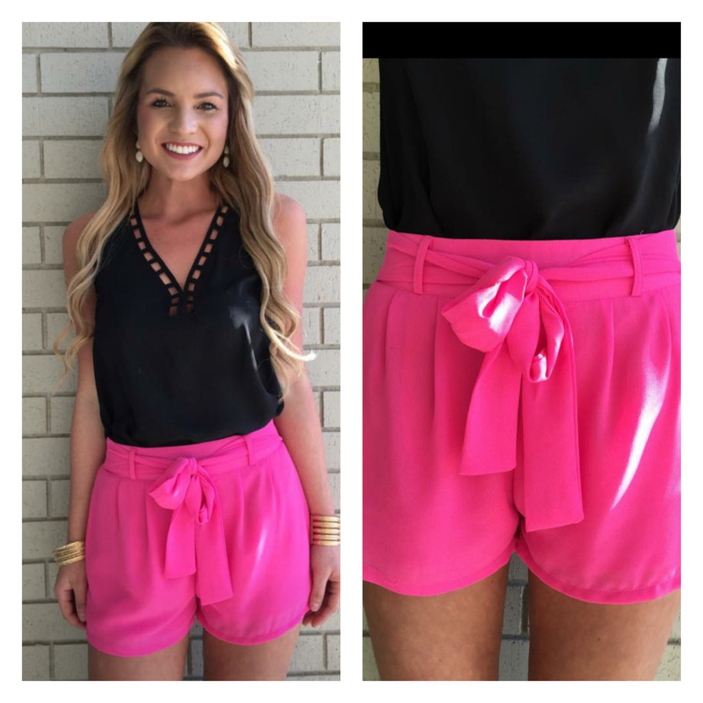 Pink shorts - Bloom and Snow Boutique
