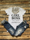 GIRL BOSS Tee - Bloom and Snow Boutique