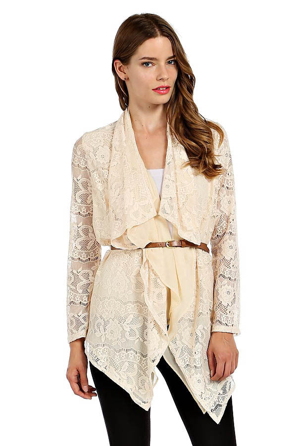 Just In Case Lace Cardigan - Bloom and Snow Boutique