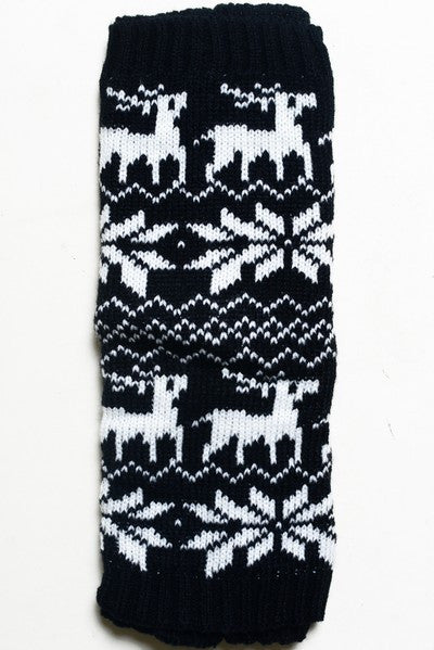KID Holiday Leg Warmers - BLACK - Bloom and Snow Boutique