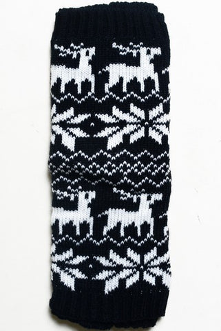 KID Holiday Leg Warmers - BLACK