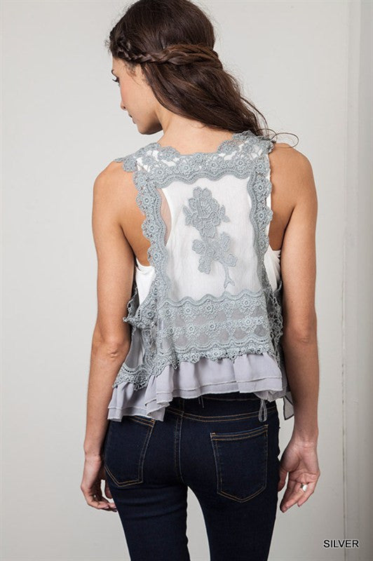 Silver Vest - Bloom and Snow Boutique