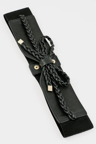 Braid Bow Belt - BLACK
