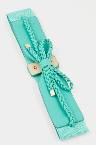 Braid Bow Belt - MINT