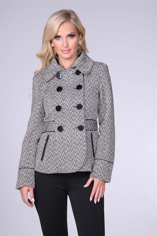 Black and White Coat - Bloom and Snow Boutique