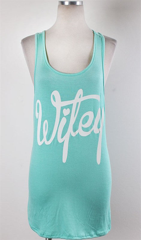 Wifey Tank - Mint - Bloom and Snow Boutique