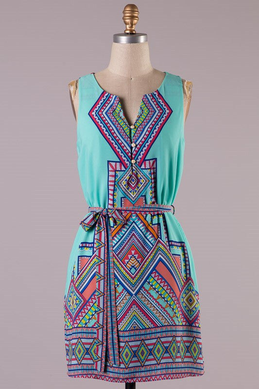 OH MY Geo Dress - Bloom and Snow Boutique