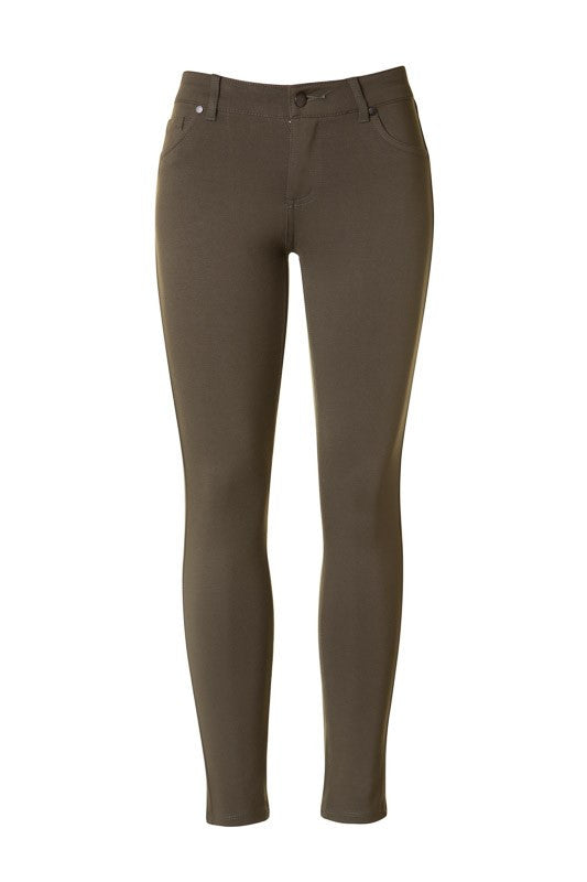 Fall For Me Jeggings OLIVE - Bloom and Snow Boutique
