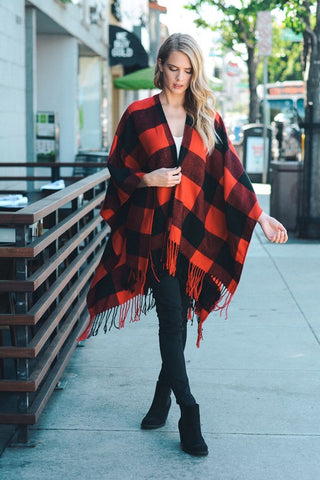 Black/Red Pancho