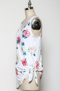 Go With The Floral Tank - Bloom and Snow Boutique