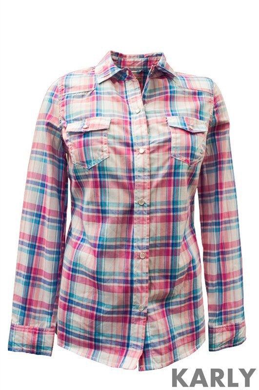 Karly Flannel Shirt - Bloom and Snow Boutique