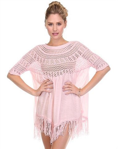 Crochet Bohemain Fringe Top