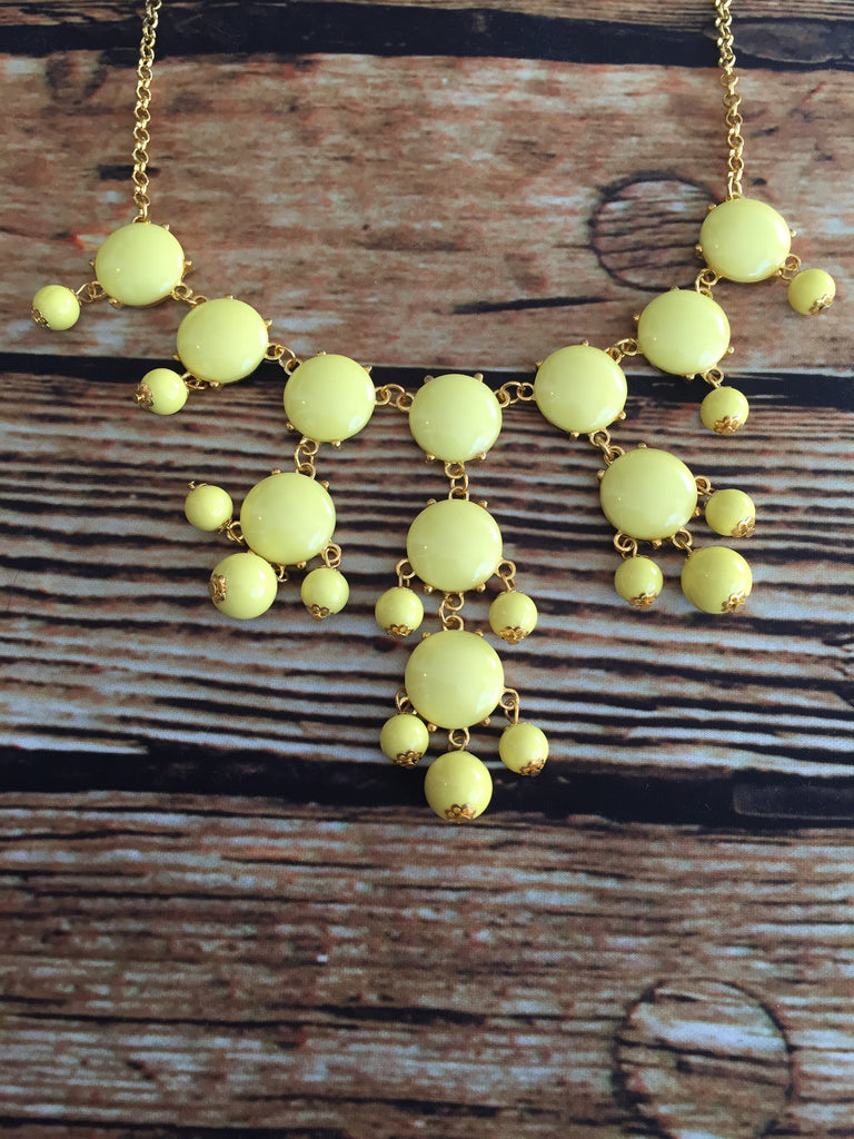 Bubble Necklace - Yellow - Bloom and Snow Boutique