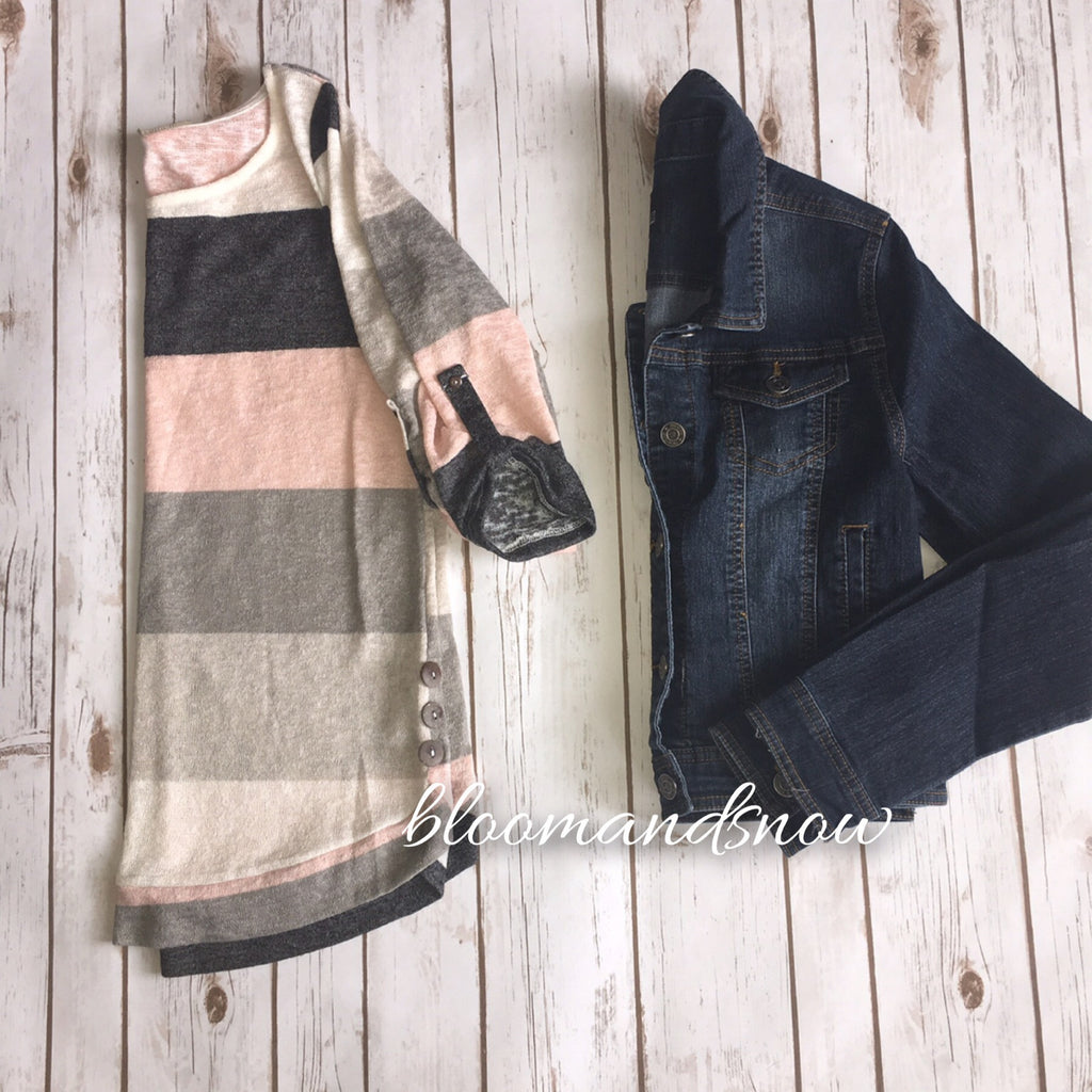 Dark Jean Jacket - Bloom and Snow Boutique