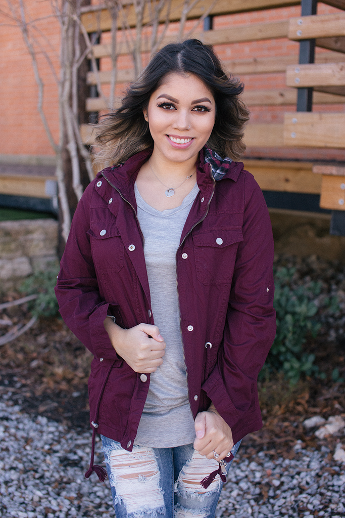 Burgundy Jacket - Bloom and Snow Boutique