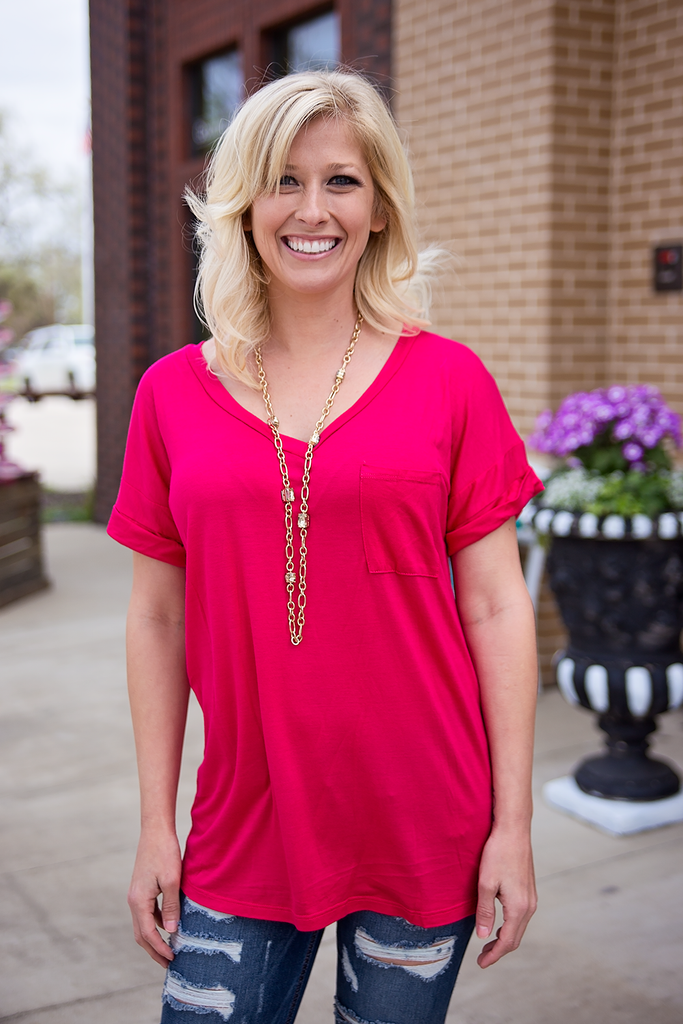 70d2b585f42 Fuchsia Top – Bloom and Snow Boutique