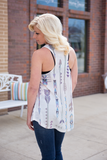 Straight To The Printed Tank - Bloom and Snow Boutique
