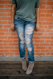 Destroyed Jeans - Bloom and Snow Boutique