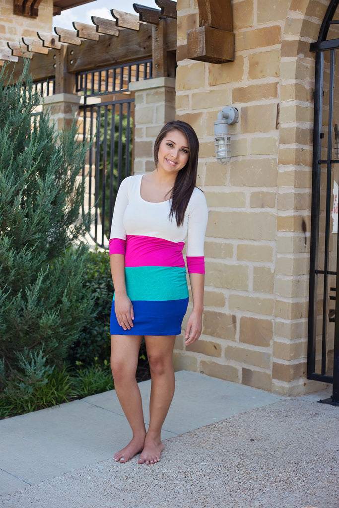 Color Block My Love - Bloom and Snow Boutique